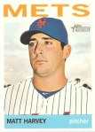 Matt Harvey's 2013 Topps Heritage baseball card