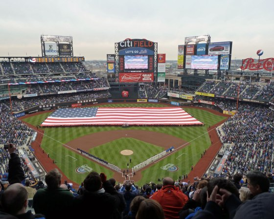 Opening Day at Citi Field in 2011 (Photo credit: Paul Hadsall)