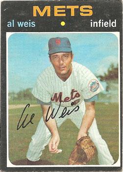 Al Weis' 1971 Topps baseball card