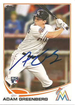 Autographed Adam Greenberg 2013 Topps baseball card from my collection
