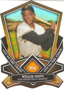 Willie Mays 2013 Topps Cut to the Chase diecut insert card