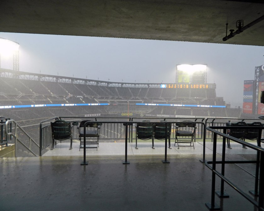 Citi Field during a rain delay earlier this year (Photo credit: Paul Hadsall)