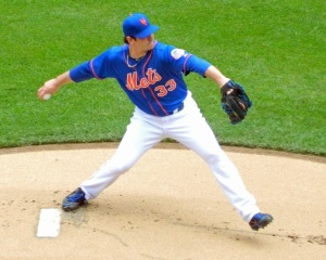 Matt Harvey pitches against the Miami Marlins on June 8 (Photo credit: Paul Hadsall)