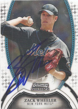 Autographed Zack Wheeler baseball card from my collection