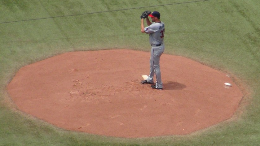 Mike Pelfrey pitches at the Rogers Centre on July 6, 2013 (Photo credit: Vinny Haynes)