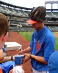 Mets reliever Carlos Torres signs autographs before the July 4, 2013 game between the Mets and Arizona Diamondbacks (Photo credit: Paul Hadsall)