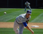 Binghamton Mets pitcher Noah Syndergaard faces the Harrisburg Senators earlier this season (Photo credit: Paul Hadsall)