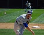 Binghamton Mets pitcher Noah Syndergaard faces the Harrisburg Senators earlier this season (Photo credit: Paul Hadsall)