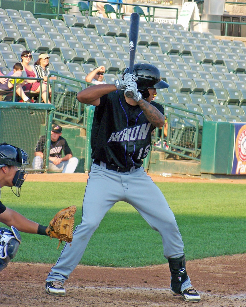Cleveland Indians prospect Ronny Rodriguez (Photo credit: Paul Hadsall)