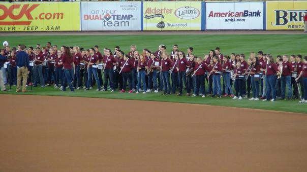 A local high school band performs the National Anthem (Photo credit: Vinny Haynes)