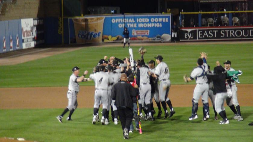 The Omaha Stormchasers celebrate winning the Triple-A Championship (Photo credit: Vinny Haynes)