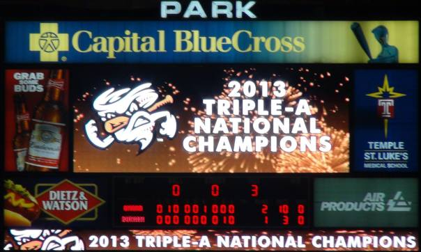 The Omaha Stormchasers are the 2013 Triple-A Champions (Photo credit Vinny Haynes)