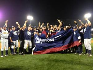 The Trenton Thunder are the 2013 Eastern League Champions (Photo taken from the team's Facebook page)