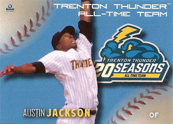 Austin Jackson's 2013 Trenton Thunder All-Time Team baseball card