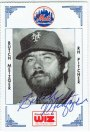 Featured autograph: 1978 New York Mets relief pitcher Butch Metzger
