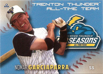 Nomar Garciaparra's 2013 Trenton Thunder All-Time Team baseball card