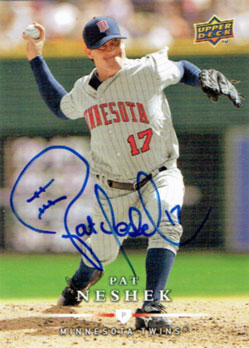 Signed Pat Neshek 2008 Upper Deck First Edition Update baseball card from my collection