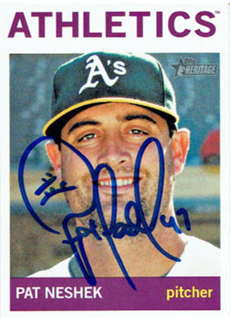Signed Pat Neshek 2013 Topps Heritage baseball card from my collection