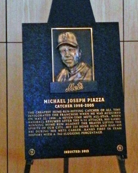 Mike Piazza's Mets Hall of Fame plaque (Photo credit: Paul Hadsall)