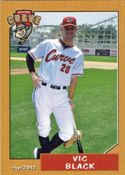 Vic Black's 2012 Altoona Curve team set baseball card from my collection