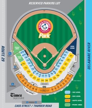 Arm & Hammer Park seating diagram for 2014 (Trenton Thunder graphic)