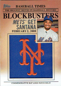 Johan Santana insert from 2012 Topps Update set