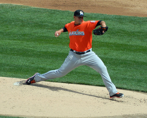 Jose Fernandez makes his major league debut against the Mets (Photo credit: Paul Hadsall)