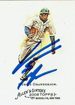 Curtis Granderson signed 2008 Allen & Ginter baseball card from my collection
