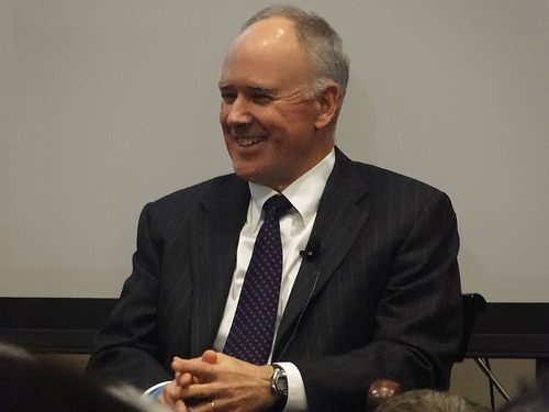 Sandy Alderson at a Fans for the Cure event with Ed Randall (Photo credit: SportsAngle.com)