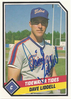Signed Dave Liddell 1988 Tidewater Tides team set card from my collection