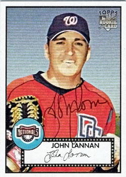 Signed John Lannan baseball card from my collection