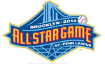 2014 New York-Penn League All-Star Game logo (Brooklyn Cyclones image)