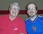 Bob Feller posed for a photo with me at a sports card show at Roselle Catholic High School in 2007