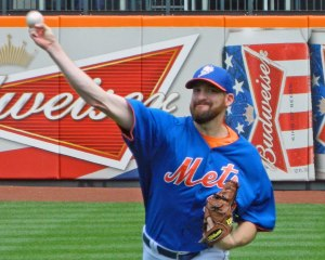 Bobby Parnell in a 2013 style Mets batting practice jersey (Photo credit: Paul Hadsall)