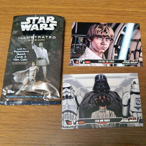 2013 Topps Star Wars Illustrated trading cards