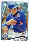 Wilmer Flores' 2014 Topps Series 1 baseball card