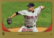 Mets baseball card of the week: 2011 Bowman Johan Santana gold version