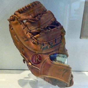 A glove used by Keith Hernandez during the 1986 season. (Photo credit: Paul Hadsall)