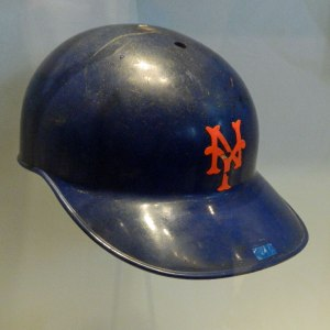 Willie Mays wore this batting helmet in 1973 (Photo credit: Paul Hadsall)