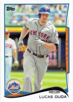 Lucas Duda's 2014 Topps baseball card