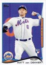 Matt den Dekker's 2014 Topps baseball card