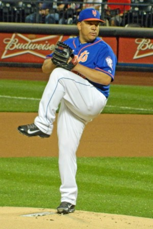 Bartolo Colon pitches against the San Diego Padres at Citi Field on June 13, 2014 (Photo credit: Paul Hadsall)