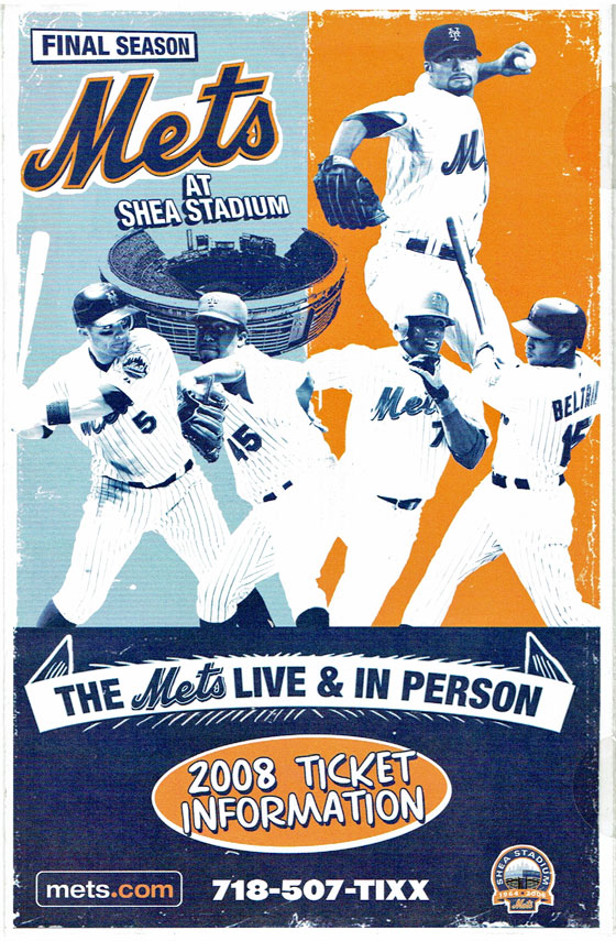 Cover of a New York Mets  ticket sales brochure from 2008