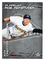 2014 Trenton Thunder baseball cards