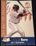 Bryce Harper's 2011 South Atlantic League's Top Prospects baseball card