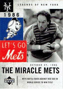 2001 Upper Deck Legends of New York Gary Carter baseball card