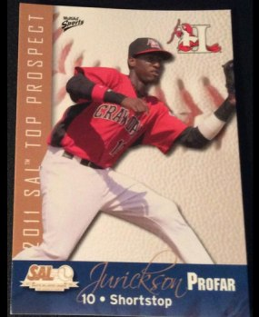 Jurickson Profar's 2011 South Atlantic League Top Prospects baseball card