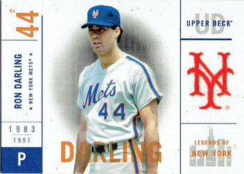 Ron Darling's 2001 Upper Deck Legends of New York baseball card