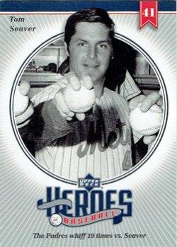 2002 Upper Deck Heroes of Baseball Tom Seaver insert card