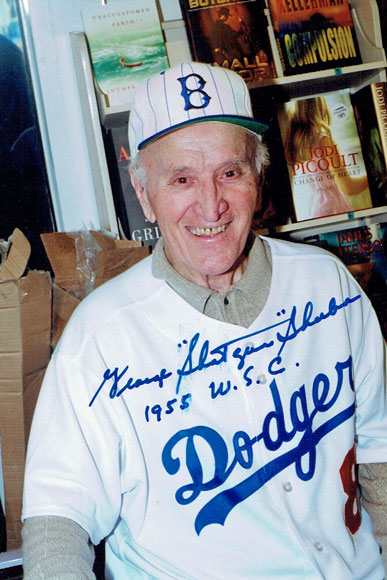 """George """"Shotgun"""" Shuba signed photo from my collection (Photo taken circa 2008 by Bart Miller)"""